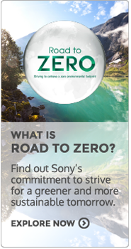 Live Green with Sony Eco. Road to Zero.