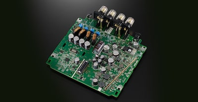 Picture of a speaker amplifier board
