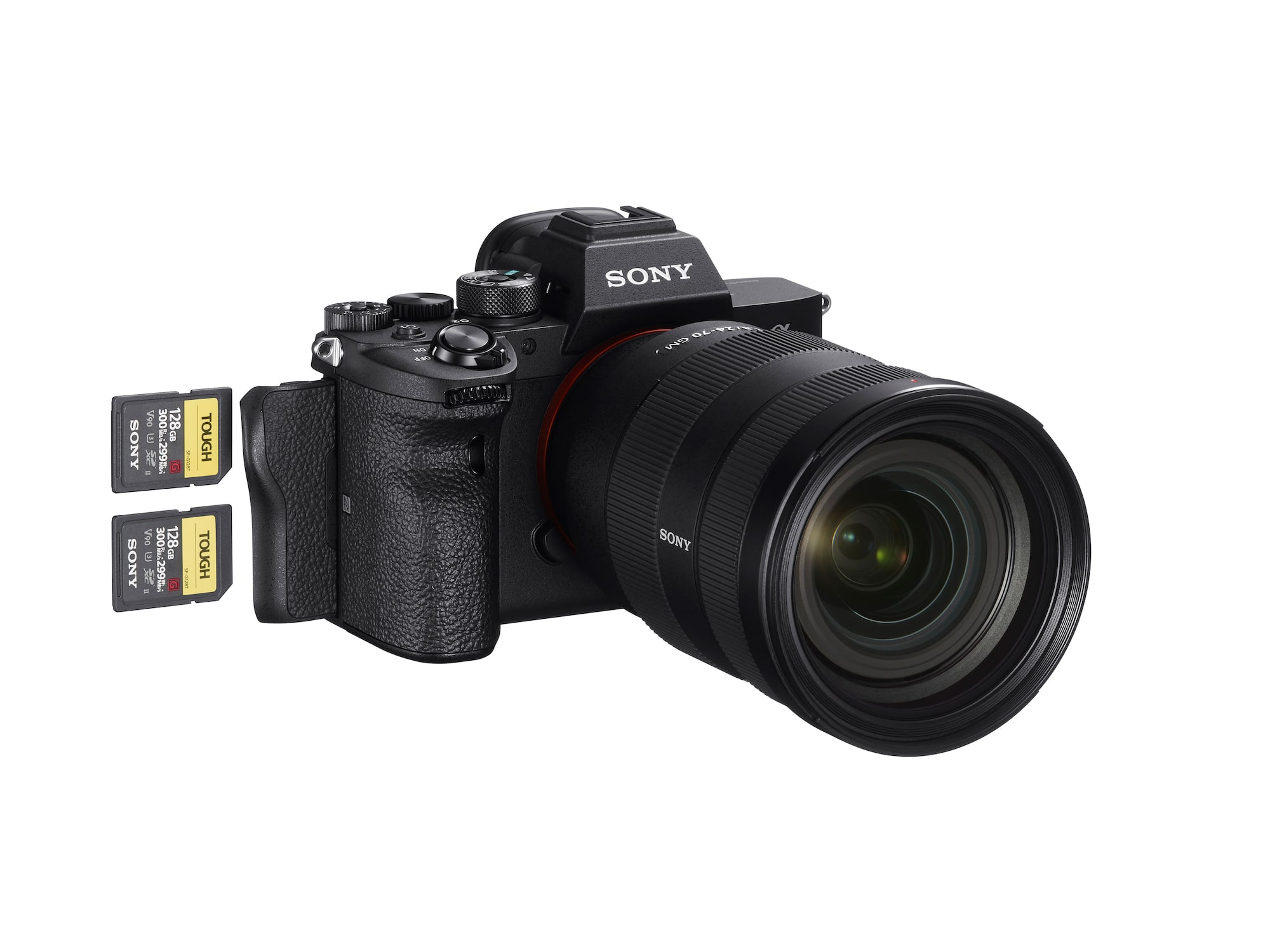 Dual media slots in Sony a7R IV for recording RAW/JPEG data and stills/movies, and copying data between cards.