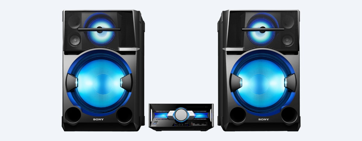 High Power Home Audio System With Bluetooth Shake 100d Sony