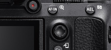 Image showing rear view of camera with AF-ON button and multi-selector