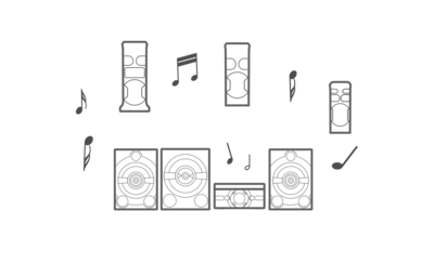 Connect multiple sound systems via Bluetooth