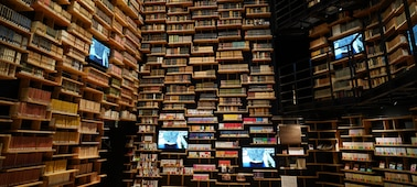 Image of inside of library taken with this lens at high resolution in every corner