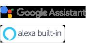 Google assistant & Alexa built-in logos