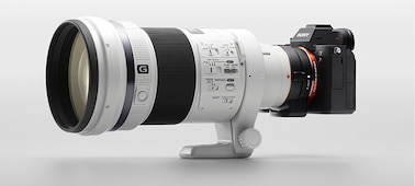 Image showing camera body with A-mount lens mounted via an adaptor