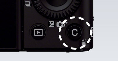 Close-up of the Sony DCS-RX100 III Cyber-shot digital camera buttons