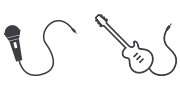Microphone and guitar icons