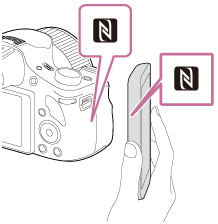 Help Guide | Sending images to an Android smartphone (NFC One-touch