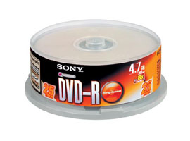 25DMR47S2-Data Storage Media-DVD