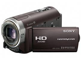 HDR-CX350E-Handycam® Camcorder-Flash / Memory Stick