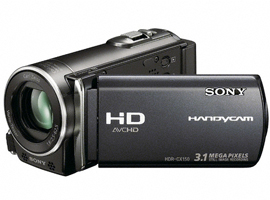 HDR-CX150E/B-Handycam® Camcorder-Flash / Memory Stick