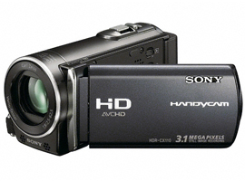 HDR-CX110E/B-Handycam® Camcorder-Flash / Memory Stick