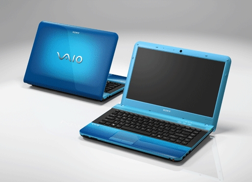 sony blue laptop