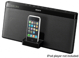RDP-XF100iP/B-Audio Docks-iPod/iPhone Docks