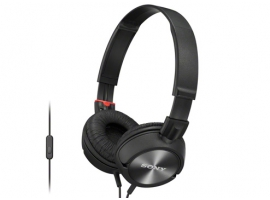 MDR-ZX300AP/B-Headphones-Sound Monitoring Headphones