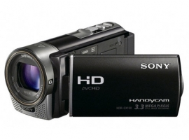 HDR-CX130E/B-Handycam® Camcorder-Flash / Memory Stick