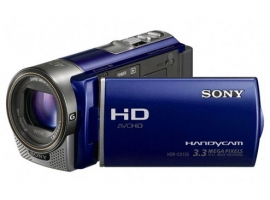 HDR-CX130E/L-Handycam® Camcorder-Flash / Memory Stick