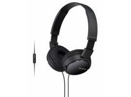 MDR-ZX110AP/B-Headphones-Sound Monitoring Headphones