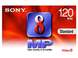 P6-120MP3-Video Media-8mm Tape