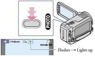 이 캠코더에서 사진 촬영 하는 방법을 알려 주세요
