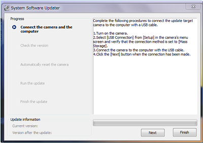 ILCE-7M2 System Software (Firmware) Update For Windows   Sony AP