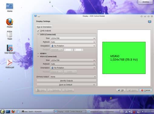 external resolution display