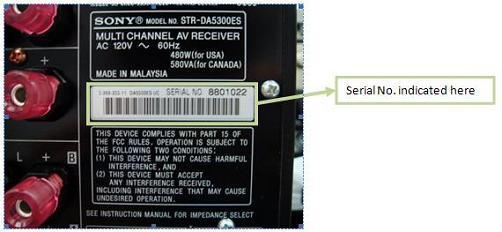 STR-DA5300ES Firmware - Update | Sony AP