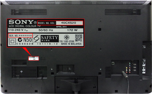 Sony Check Your Model And Serial Number